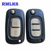 Für Renault Fluence Clio/Megane/Kangoo Modus 2/3 Tasten Auto Remote Key Fall Abdeckung Flip Fob Folding Uncut VA2 Blade-Shell