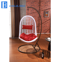 outdoor garden durable White rattan wicker swing hanging chair with best price
