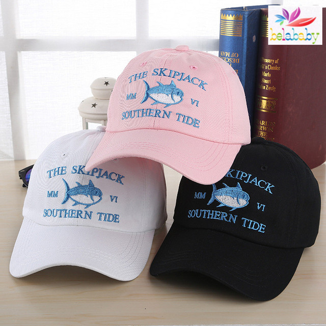 Belababy Embroidery Fish The Skipjack Southern Tide Baseball Cap Hip