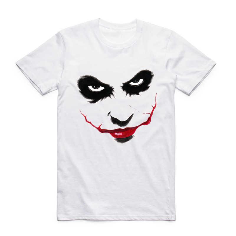 S-XXX Для мужчин принт Забавный персонаж комиксов джокер футболка комиксов супергероя с коротким рукавом О-образным вырезом футболка