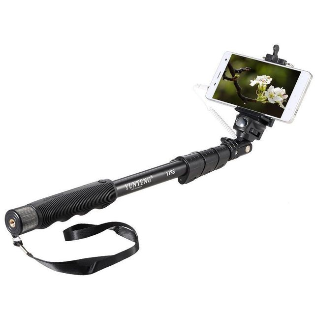 Selfie Stick Yunteng 1188 Extendable Handheld for IOS Android Smartphone Phone Clip Holder