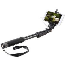 Selfieスティックyunteng 1188拡張可能なハンドヘルド用iosのandroidスマートフォン電話クリップホルダー