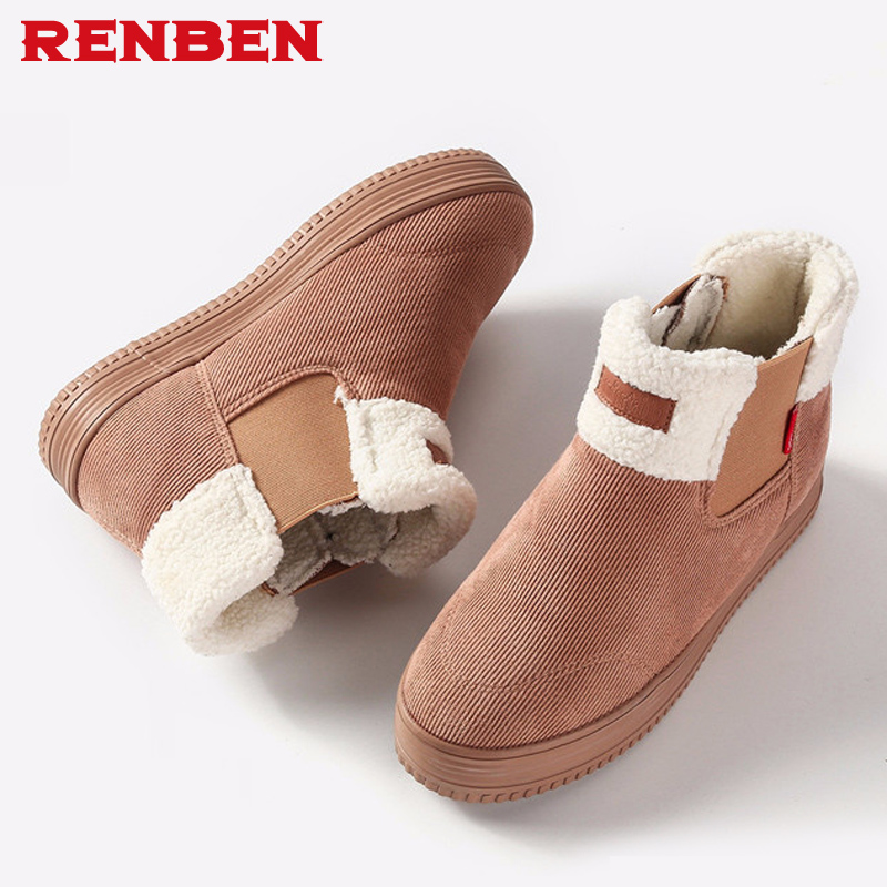 2018 Women Winter Snow Boots Women's Ankle Boots Flat Slip-resistant Thermal Winter Fur Warm Shoes Cotton Boots Botas Mujer цена