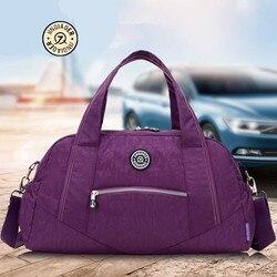 Nuevos bolsos de nylon para mujer, bolsos de bandolera para mujer, bolsas de viaje con cubos de embalaje, equipaje con ruedas, Casual