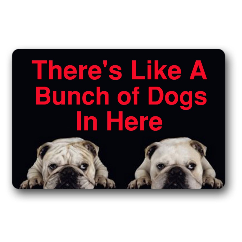 There 39 s Like A Bunch of Dogs in Here funny front door mat indoor mats for entrance Doormat Outdoor thin but high quality in Mat from Home amp Garden