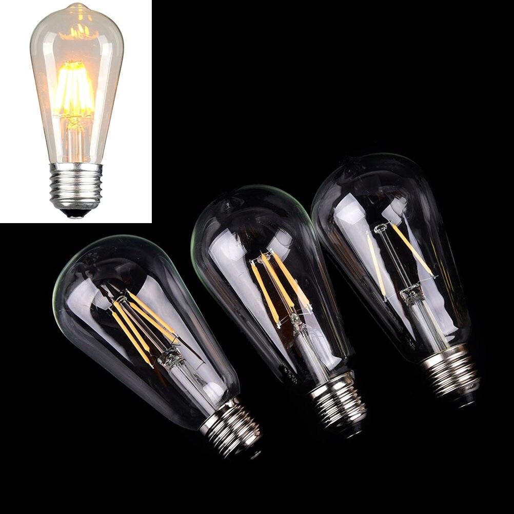 LED Edison Bulb Lamp 2W 6W E27 220V ST64 Incandescent Romantic Lights For Wedding Party Home Decoraction