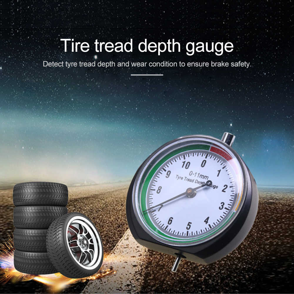 1PC Car tire depth gauge truck tire pointer monitoring measurement tool device tire ruler tire pattern depth ruler