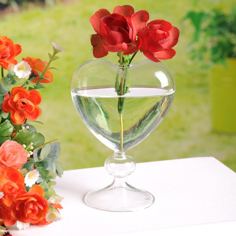 europea corazn creativo de florero de vidrio soplado artificial decoracin del hogar jarrn hidropnicos recipiente de