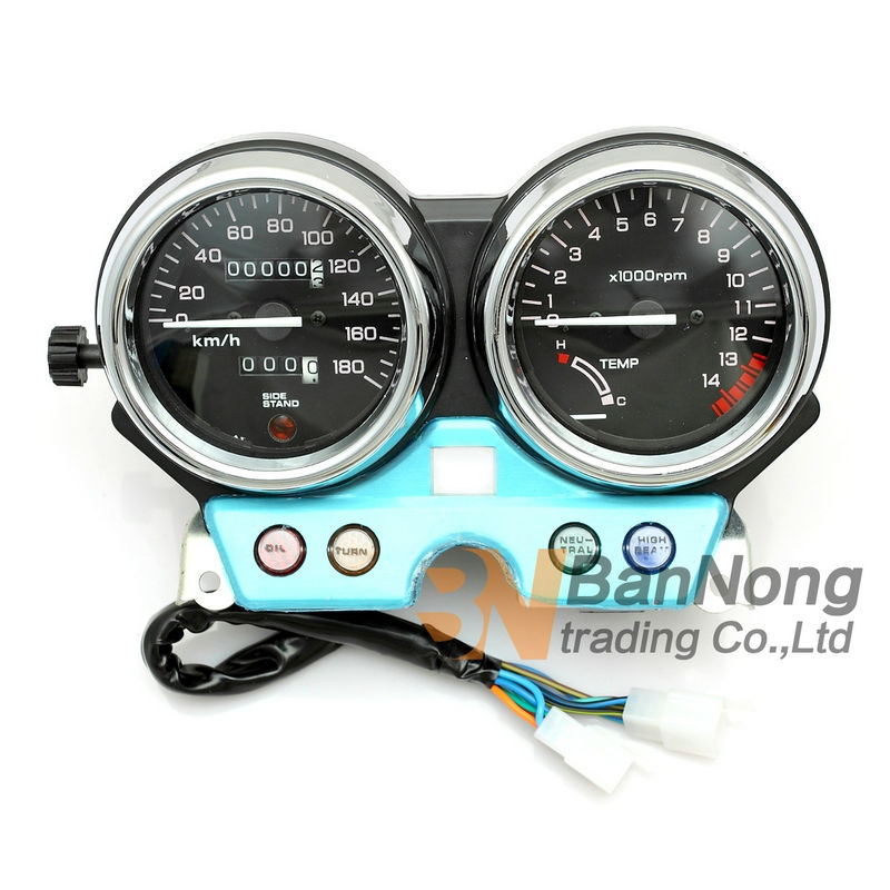 цена на Motorcycle Gauges Cluster Speedometer Tachometer Meter Odometer Instrument Assembly For Honda CB400 CB400SF MC31 1992-1994