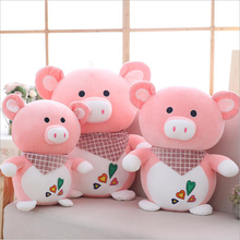 Cute Scarf Pink Pig Soft Plush Toys High Quality Stuffed Animal Pigs Doll Toy Children Kids Birthday Gift