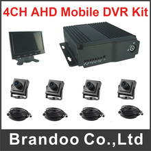 4CH Mobile DVR Kit 1080P and 1080N Car DVR Including 4pcs 2.0MP Car Camera Support HDMI Output