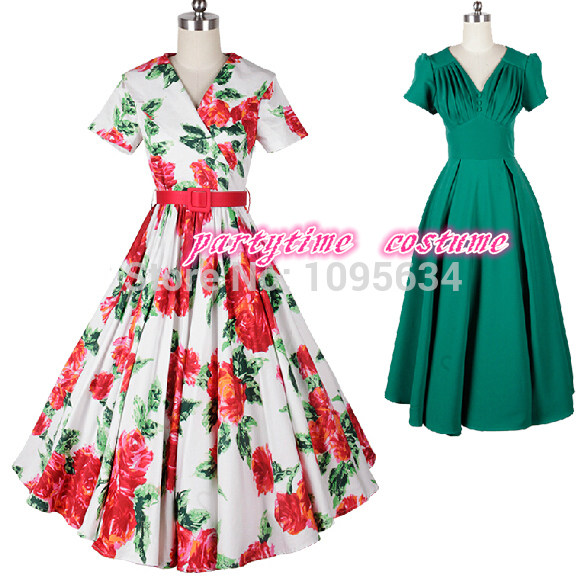 Online Shop Free Shipping Ladies Fashion 1950s Pin Up Retro