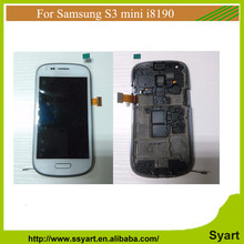 S3 mini 10PCS Screen Display For Samsung Galaxy S3 Mini i8190 LCD Touch With Digitizer Assembly + Bezel Frame + Tools DHL
