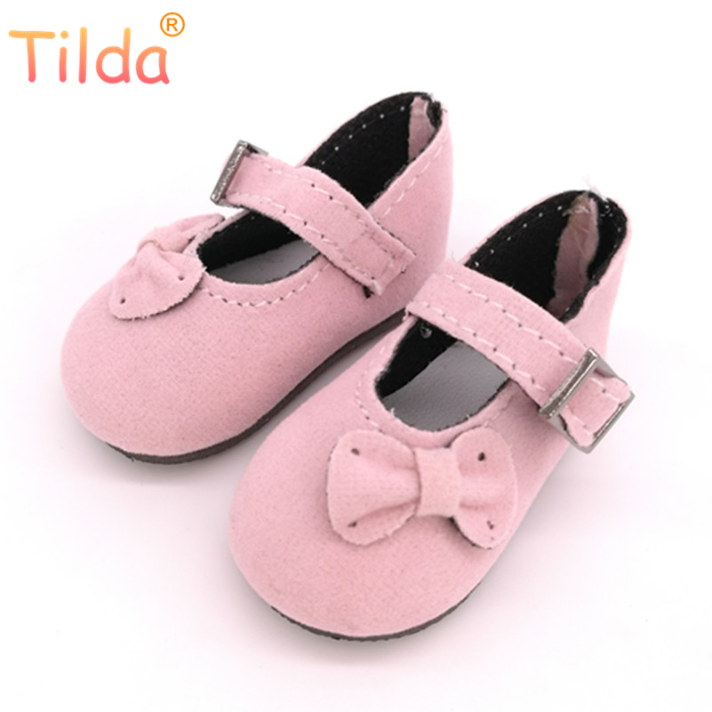 Tilda 4.5cm BJD Doll Shoes for Handmade Dolls,1/6 Mini Casual Dolls Toy for BJD,Puppet Doll Sneakers Accessories 5 pairs/lot new style doll accessories round shaped glasses sunglasses suitable for 1 3 bjd dolls mini doll glasses for dolls good quality