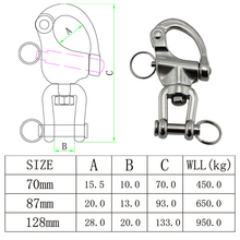 316 Stainless Steel Swivel Shackle Quick Release Boat Anchor Chain Eye Shackle Swivel Snap Hook for Marine Architectural