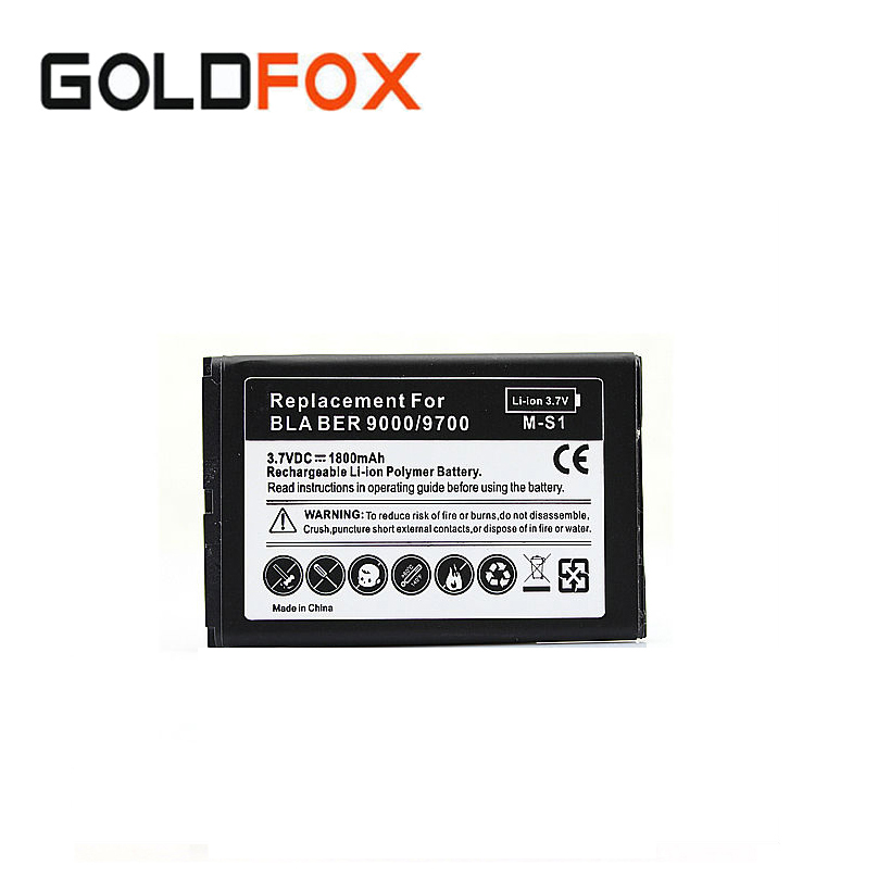 1800mah Celular Battery For Blackberry Bold 9000 9700 9780 Boblie Cell Phone Replacement Rechargeable Li-ion batteria