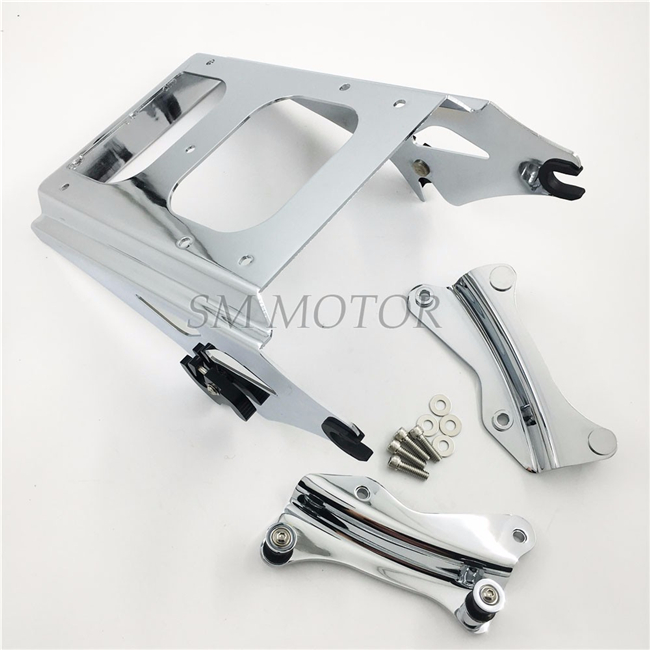 Motorcycle moto Chrome 4 Point Docking Hardware Kit With Luggage Rack For Harley Touring 2014-2016 Electra Glide Road Glide king