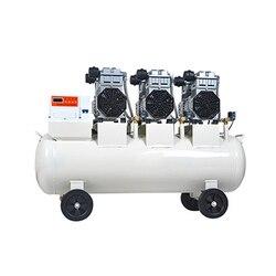 Duży pompy sprężarki powietrza wolne od oleju cicha sprężarka powietrza do laboratorium dentystycznego do obróbki drewna Auto naprawa pompy sprężarki powietrza 220/380V w Narzędzia pneumatyczne od Narzędzia na