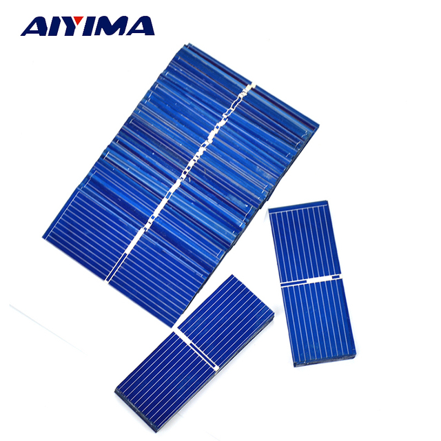 Aiyima 100pcs 52x19mm solar cell for DIY solar panel DIY cell phone charging