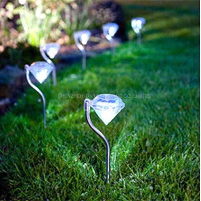 48pcs/lot Lawn Lights Solar Diamond Shaped Led Flood Diamond Lamp Power LED Light Solar for Outdoor SND-0045