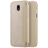 For Samsung Galaxy J7 2017 Smart Flip Cover Cases NILLKIN Sparkle Leather Super Thin Slim Phone