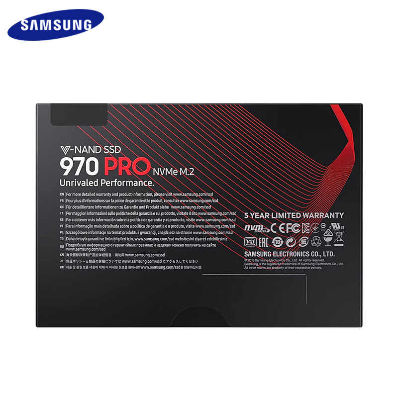 Samsung SSD 512GB 1TB 970 RPO NVME M.2 Internal Solid State Drive HD PCIe 3.0 x4, NVMe 1.3 Sequential Reads up to 3500MB/s SSD