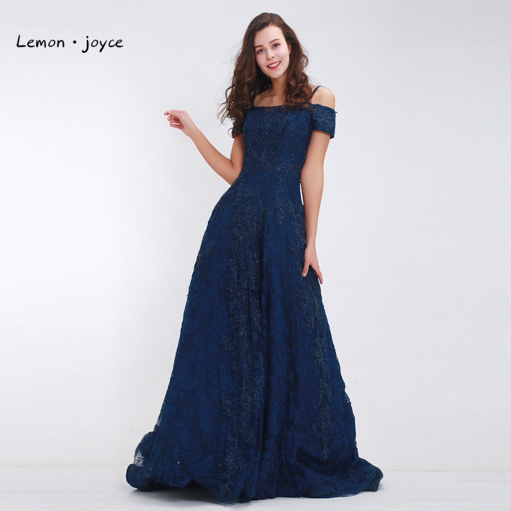 Deluxe Prom Dresses From Events Blue Prom Dresses Long 2018 Boat Neck Beading Lace A Blue Prom Dresses Long 2018 Boat Neck Beading Lace A Line Length Luxury Evening Dresses