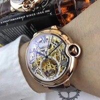 Мужские часы лучший бренд взлетно посадочной полосы роскошный Европейский Дизайн автоматические механические часы S0702