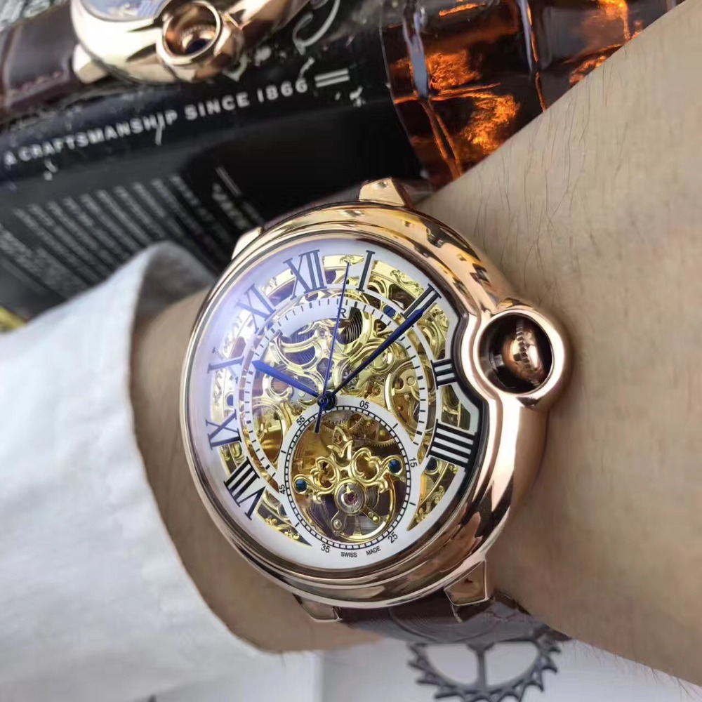Mens Watches Top Brand Runway Luxury European Design Automatic Mechanical Watch S0702 цена и фото