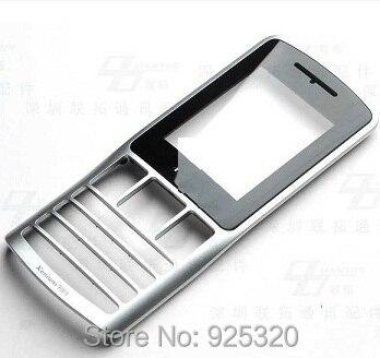 Бесплатная доставка, Оригинальный черный Объектив + Передняя корпус для Philips X130, экран для CTX130 xenium мобильного телефона