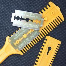 Профессиональные высококачественные ножницы для волос, парикмахерские ножницы, бритва, волшебная Расческа с лезвием, парикмахерские ножницы