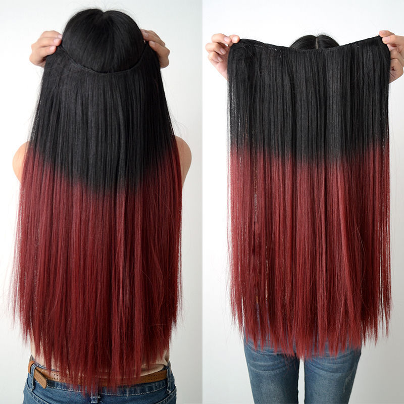 Red And Black Dip Dye Hair Extensions Prices Of Remy Hair