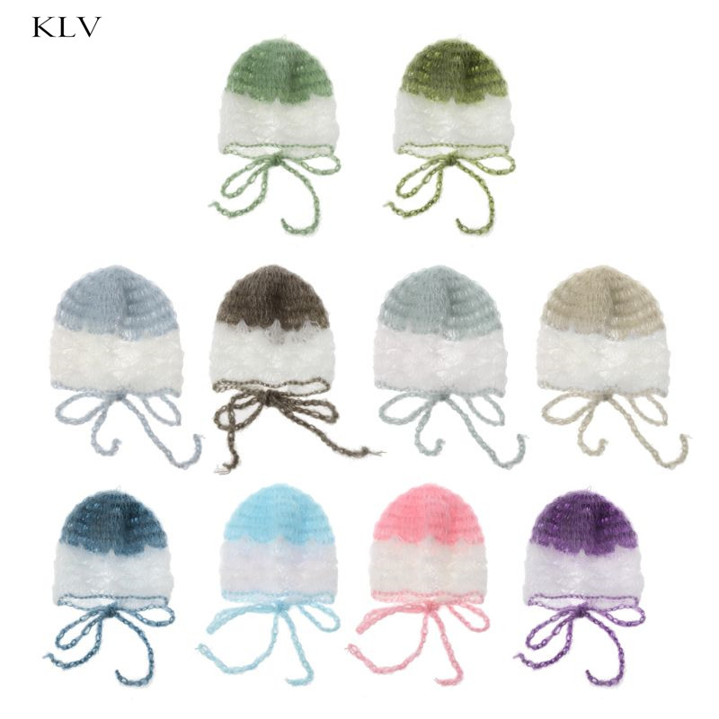 High Quality Baby Mohair Hat Handmade Shell Crochet Knit Soft Mohair Bonnet Newborn Photography Props