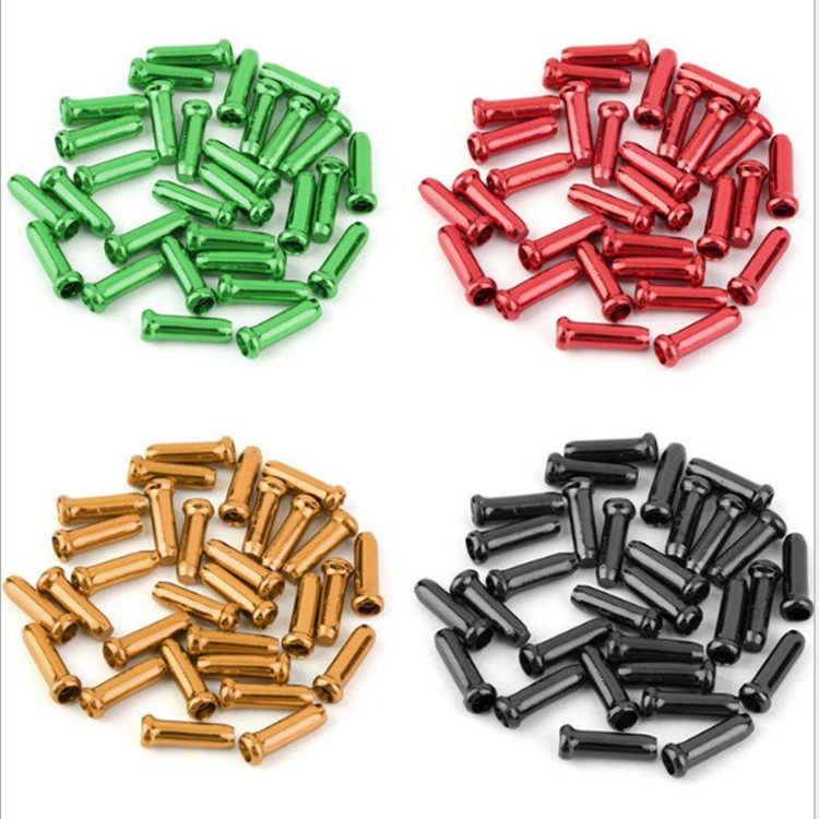 Bicycle line tube tail gearbox brake wire cap aluminum alloy colorful  tail-hat (10)