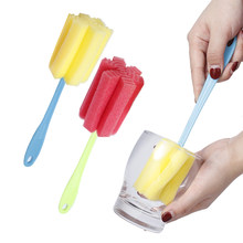 NEW 1 PC Kitchen Cleaning Tool Sponge Brush for Wineglass Bottle Coffe Tea Glass Cup(China)