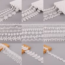 Ruban en dentelle blanche pour Patchwork, 1yard/lot, fournitures de couture de vêtements, artisanat, artisanat, nouveau Style