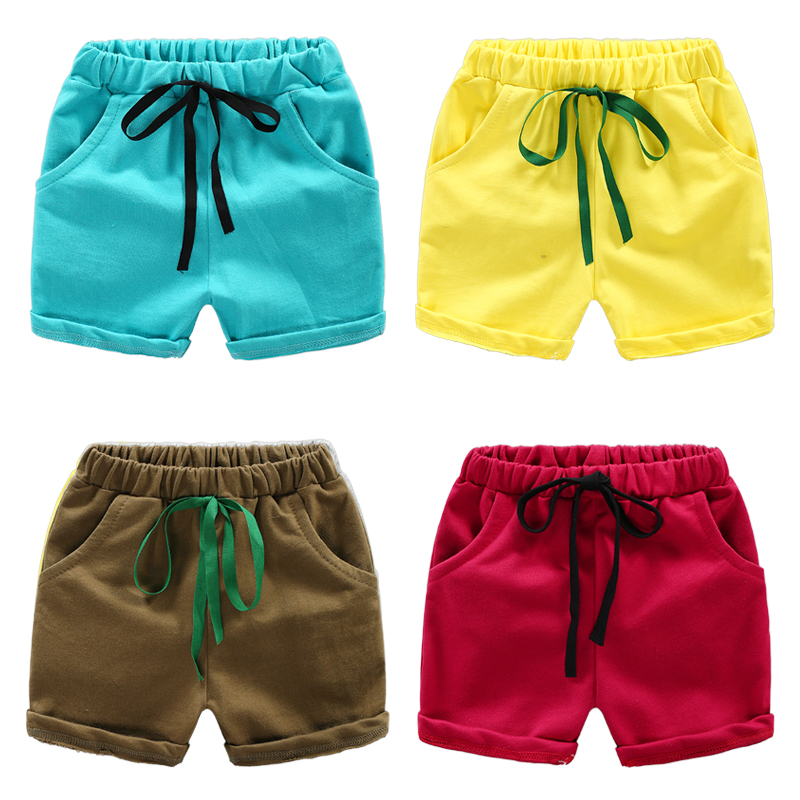 цена на Boys Solid Color Lace Shorts 2018 Summer New Children's Wear Fashion Shorts Hot Pants Baby Korean Shorts FREE