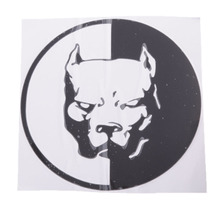 1 Pc 120*120mm Bulldog Waterproof Car Stickers Stying Pitbull Super Hero Dog Auto Reflective Vinyl Decal Accessories