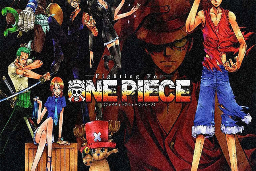 Custom Canvas Art One Piece Poster Anime Wall Stickers Luffy Crew Wallpaper Ace Sticker Christmas Decoration 2392 In From Home