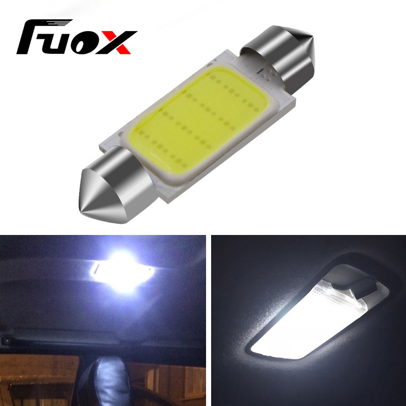 1pcs 12V Festoon LED 31mm / 36mm / 39mm / 42mm Reading lights Car Bulb Parking CANBUS C5W COB LED SIZE Interior White SMD Bulb