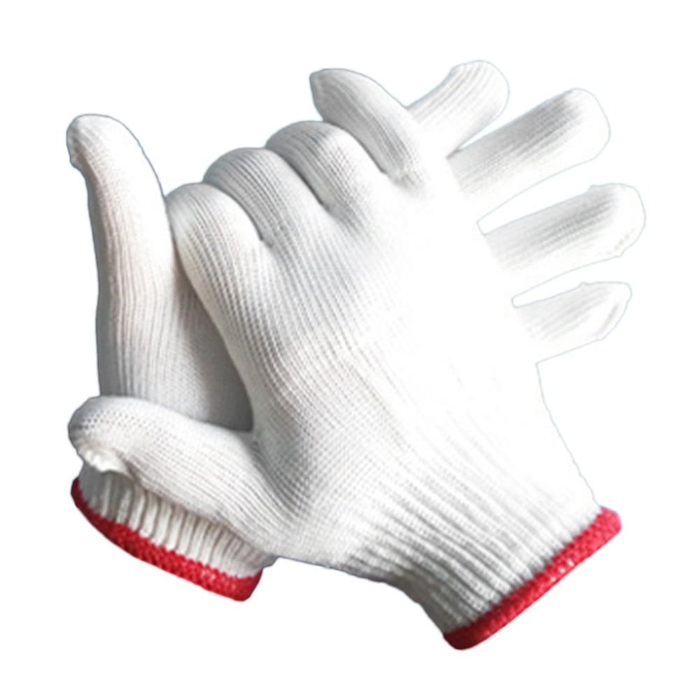 1 Pair 500g Nylon Gloves Wear-resistant Antiskid Working Gloves Breathable Safety Hand Protective Gloves for Labor Work strong 0 35mmpb medical x ray protective gloves ray workplace use gloves lead rubber gloves