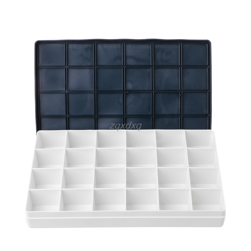24 Well Watercolor Paint Tray Artist Plastic Drawing Palette Art Supplies Whosale&Dropship