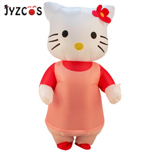 JYZCOS Hello Cat Kitty Inflatable Costume Halloween for Women Man Disguise Anime Cosplay Carnival Adult