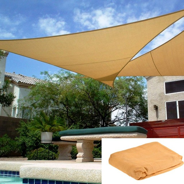 Waterproof Sun Shade Sails Roof Top Canvas Garden For Playground Park Pool Outdoor 12