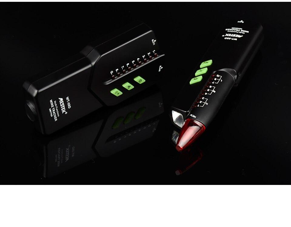 Recherche de ligne Testeur de c/âble r/éseau portable MESTEK WT-58D Outil de suivi de d/étecteur de fil t/él/éphonique
