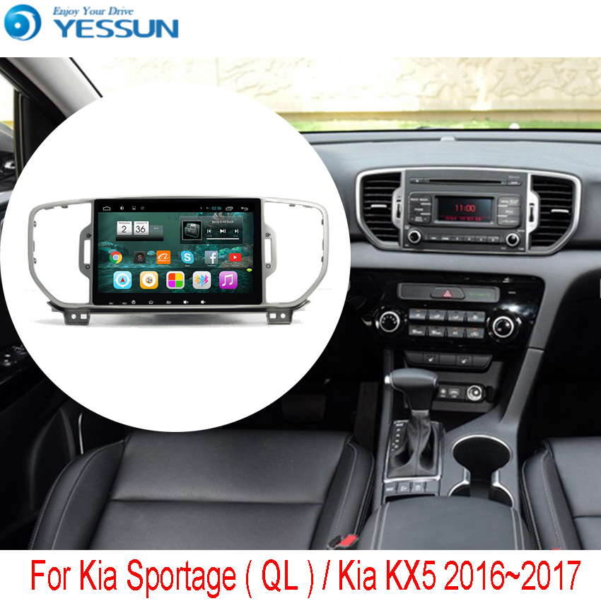 For Kia Sportage ( QL ) / Kia KX5 2015~2016 Car Android Media Player System Radio Stereo GPS Navigation Multimedia Audio Video 2 pcs set stainless steel car air vent circle trim air conditioner protection sticker for kia sportage kx5 ql 2016 2017 parts