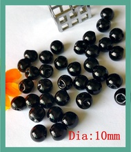 200pcs side hole ,Black plastic Imitation Pearl Button Bulk 10mm Round loose Buttons for Craft Scrapbooking Products Accessories