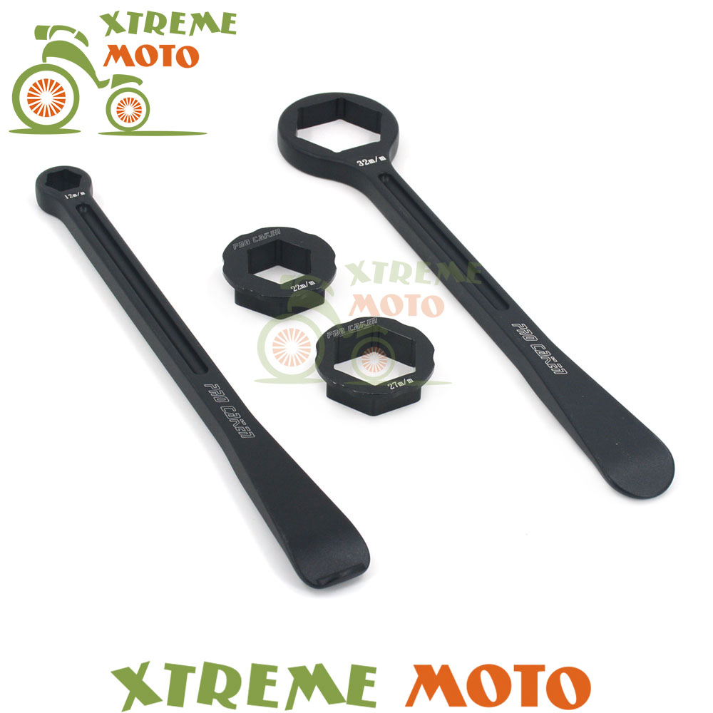 Tyre Iron Set Changing Tool Kit Raceline Grilled Tire Lever Hex Wrench Spanner Head 10MM 12MM 22MM 27MM 32MM For Japananese Bike