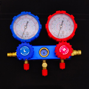 Image 4 - مجموعة أدوات صيانة أدوات قياس مكيف الهواء المنوع R134A مع حقيبة حمل مبرد تشخيص مكيف الهواء