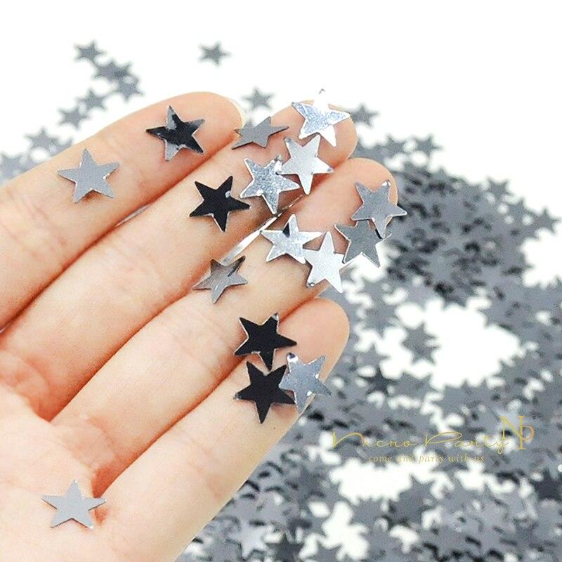Nicro 10g 30g 50g Star Sliver PVC Confetti  Birthday Wedding Valentine Table Scatter Decor Christmas Party Decoration